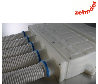 zehnder comfotube is a brand semi-rigid radial ducting system offering zero leakage performance and more than ideal for MVHR heat recovery ventilation installations - 75% less connections!