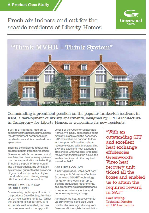 Liberty Homes Case Study Heat Recovery Ventilation System